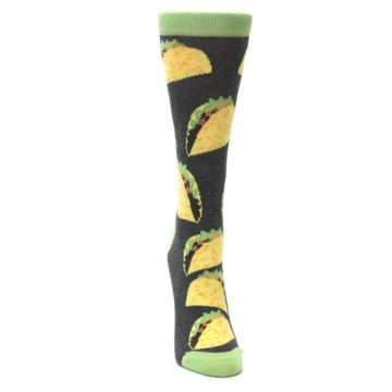 Image of Yellow Green Tacos Women's Dress Socks (front-04)