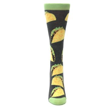Image of Yellow Green Tacos Women's Dress Socks (front-05)
