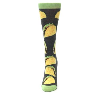 Image of Yellow Green Tacos Women's Dress Socks (side-2-front-06)