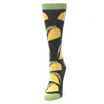 Image of Yellow Green Tacos Women's Dress Socks (side-2-front-07)