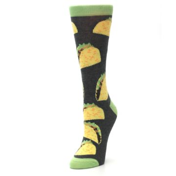 Image of Yellow Green Tacos Women's Dress Socks (side-2-front-08)