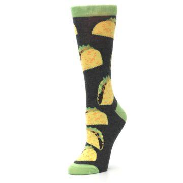 Image of Yellow Green Tacos Women's Dress Socks (side-2-09)