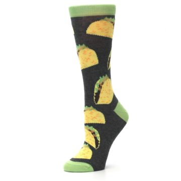 Image of Yellow Green Tacos Women's Dress Socks (side-2-10)