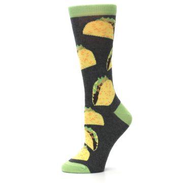 Image of Yellow Green Tacos Women's Dress Socks (side-2-11)