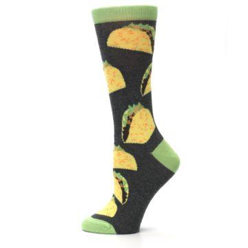 Image of Yellow Green Tacos Women's Dress Socks (side-2-12)