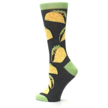 Image of Yellow Green Tacos Women's Dress Socks (side-2-13)