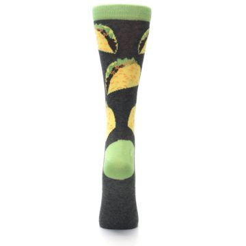 Image of Yellow Green Tacos Women's Dress Socks (back-19)