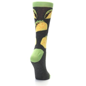 Image of Yellow Green Tacos Women's Dress Socks (side-1-back-21)