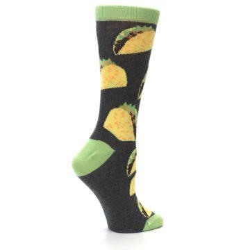 Image of Yellow Green Tacos Women's Dress Socks (side-1-24)