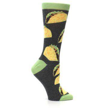 Image of Yellow Green Tacos Women's Dress Socks (side-1-25)
