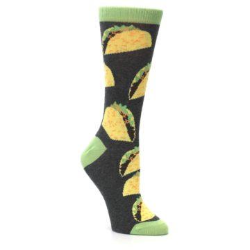 Image of Yellow Green Tacos Women's Dress Socks (side-1-27)