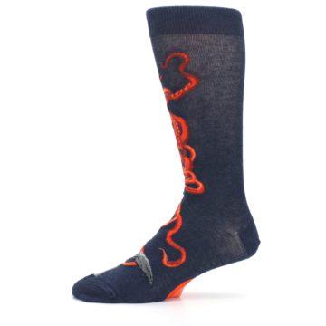 Image of Navy Red Giant Squid Men's Dress Socks (side-2-11)