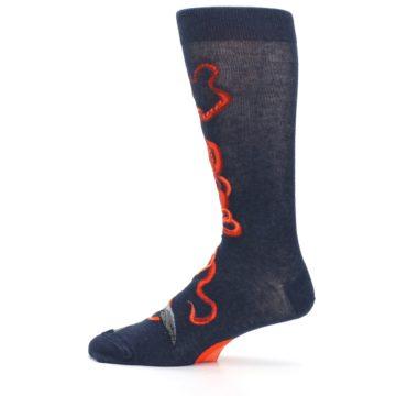 Image of Navy Red Giant Squid Men's Dress Socks (side-2-12)