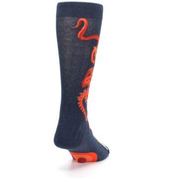 Image of Navy Red Giant Squid Men's Dress Socks (side-1-back-20)