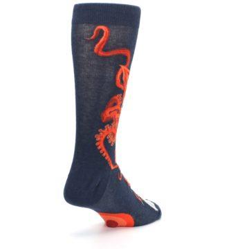 Image of Navy Red Giant Squid Men's Dress Socks (side-1-back-21)