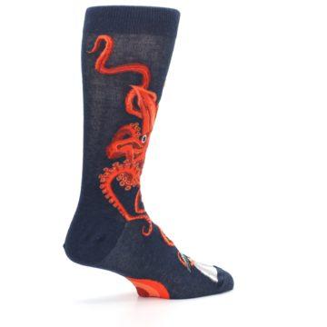 Image of Navy Red Giant Squid Men's Dress Socks (side-1-23)