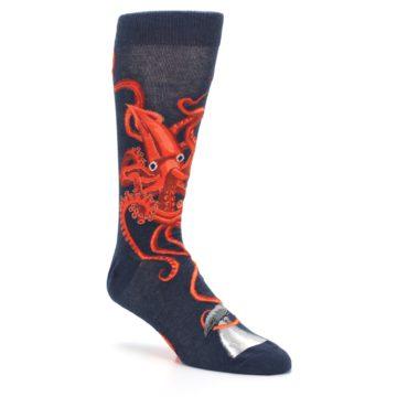 Image of Navy Red Giant Squid Men's Dress Socks (side-1-27)