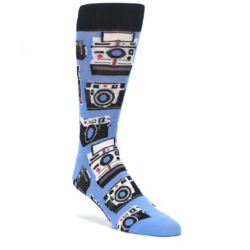 Blue-Picture-Perfect-Retro-Camera-Mens-Dress-Socks-Yo-Sox