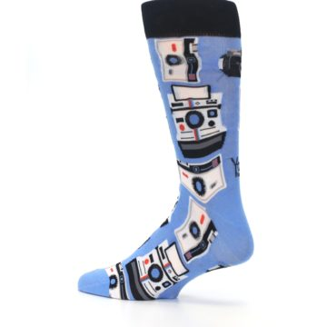 Image of Blue Picture Perfect Retro Camera Men's Dress Socks (side-2-13)