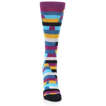 Image of Purple Blue Digi Stripe Women's Dress Socks (front-04)