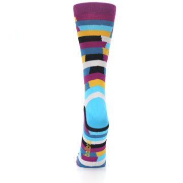 Image of Purple Blue Digi Stripe Women's Dress Socks (back-18)