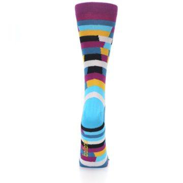 Image of Purple Blue Digi Stripe Women's Dress Socks (back-19)