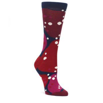 Navy-Maroon-Red-Lava-Womens-Dress-Socks-Ballonet-Socks