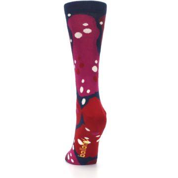 Image of Navy Maroon Red Lava Women's Dress Socks (back-17)