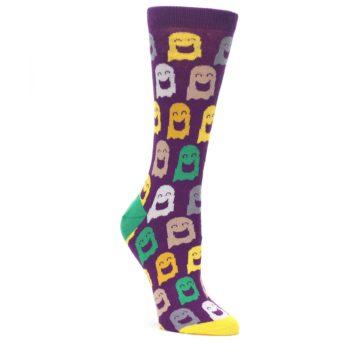 Purple Multi Ghosts Women's Dress Socks