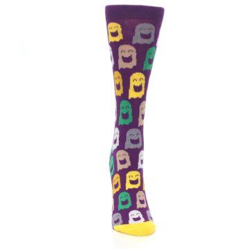 Image of Purple Multi Ghosts Women's Dress Socks (front-04)