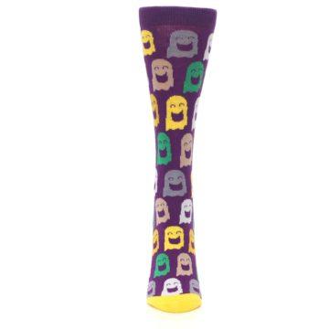 Image of Purple Multi Ghosts Women's Dress Socks (front-05)