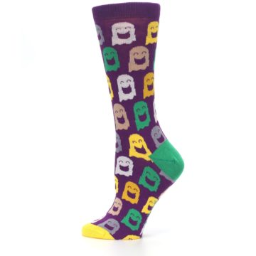 Image of Purple Multi Ghosts Women's Dress Socks (side-2-12)