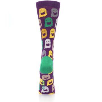 Image of Purple Multi Ghosts Women's Dress Socks (back-19)