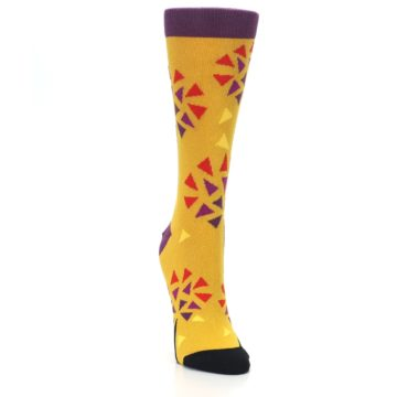 Image of Yellow Abstract Trees Women's Dress Socks (side-1-front-03)