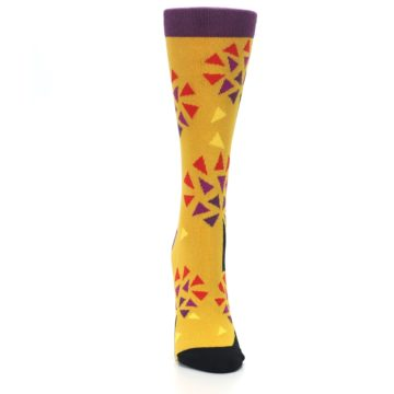 Image of Yellow Abstract Trees Women's Dress Socks (front-04)