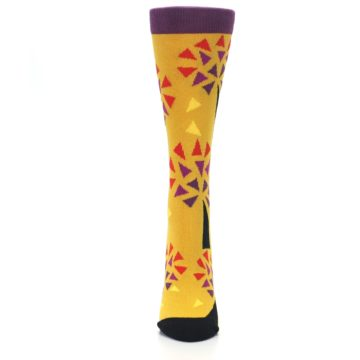 Image of Yellow Abstract Trees Women's Dress Socks (front-05)