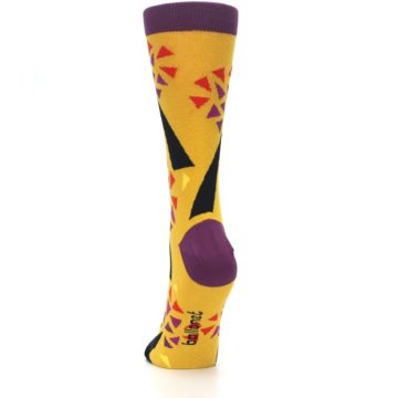 Image of Yellow Abstract Trees Women's Dress Socks (back-17)