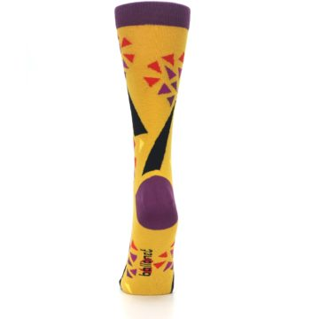 Image of Yellow Abstract Trees Women's Dress Socks (back-18)