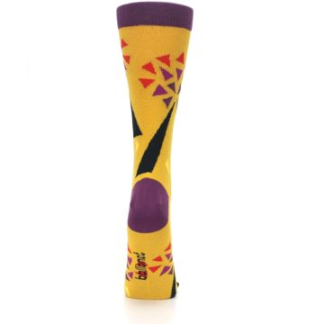 Image of Yellow Abstract Trees Women's Dress Socks (back-19)