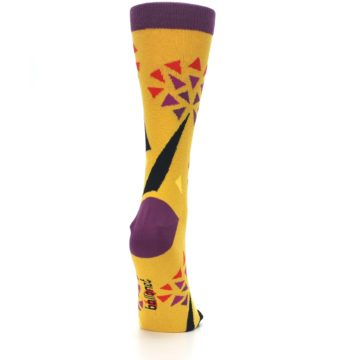 Image of Yellow Abstract Trees Women's Dress Socks (side-1-back-20)
