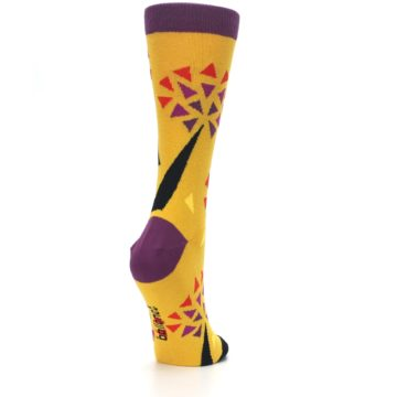 Image of Yellow Abstract Trees Women's Dress Socks (side-1-back-21)