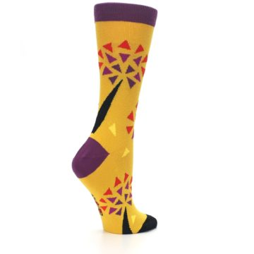 Image of Yellow Abstract Trees Women's Dress Socks (side-1-23)