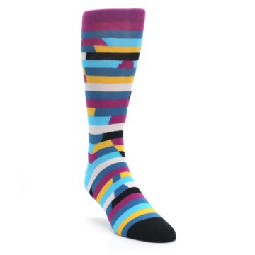 Purple-Blue-Digi-Stripe-Mens-Dress-Socks-Ballonet-Socks