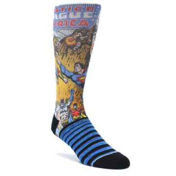 Blue-Justice-League-Characters-Mens-Casual-Socks-BIOWORLD