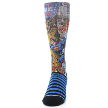 Image of Blue Justice League Characters Men's Casual Socks (front-05)