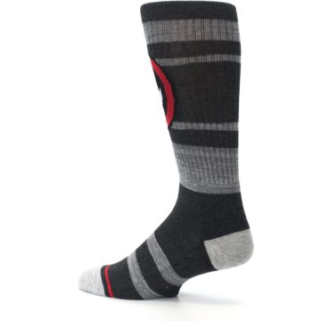 Image of Charcoal Gray Red Deadpool Men's Casual Socks (side-2-13)