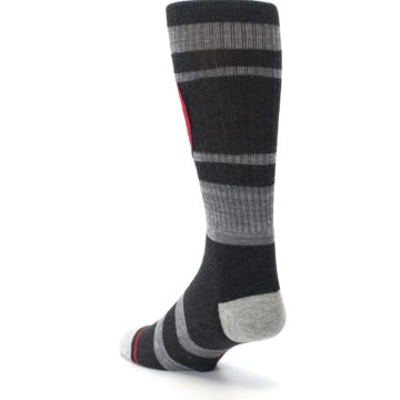 Image of Charcoal Gray Red Deadpool Men's Casual Socks (side-2-back-15)