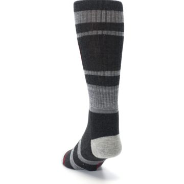 Image of Charcoal Gray Red Deadpool Men's Casual Socks (side-2-back-16)