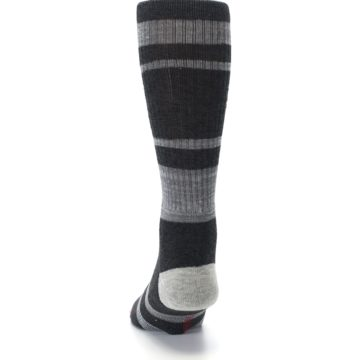 Image of Charcoal Gray Red Deadpool Men's Casual Socks (back-17)