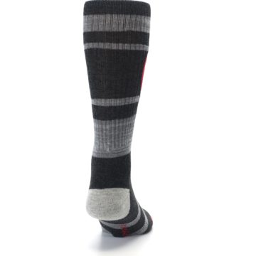 Image of Charcoal Gray Red Deadpool Men's Casual Socks (back-19)